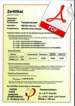 Certificat REHAU Clima Design - Casa Pasiva
